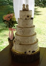 Rustic Birch Tree Wedding Cake With Fondant Owl Topper