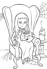 Girl Printable Halloween Coloring Pages To Print