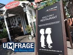 restaurant auf ostseeinsel rü abends keine kinder in