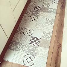 tapis cuisine vinyl carreaux de ciment de design unique