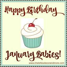 Happy Birthday January Babies