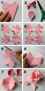 Use Coloured Card To Make Fun Flowers