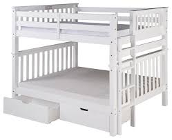 Santa Fe Mission Tall Bunk Bed Full Over Full Bed End Ladder with