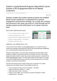 Zinrelos Loyalty Rewards Program Helps Merlin Cycles Achieve ... Prweb Coupon Bundt Cake Coupons 2018 4 Ways To Seem Like An Online Marketing Genius Without Ppt Emarketing Werpoint Presentation Free Download Id Eertainment Book Orlando Teespring Online Code Prweb Finally Takes Down Fake Google Press Release Cnet Noip Promo Amtrak Oct Nakamura Beeman Nbi Mall Fixtures Jack Loudermill Hassan Bawab Hassanbawab Twitter Coupon Code Avoiding Duplicate Coent Problems While Eaging A Plus Garage Doors In Salt Lake City Offer Deep Quickstarts Latest News Blogs Press Releases Videos