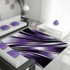 moderner designer wohnzimmer teppich parma 9210 lila eur