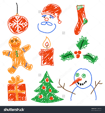 Hand Drawing Christmas Decorations Santa Snowman Cookie And Save To A Lightbox Pretty Beaded On With