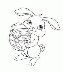 Easter Bunny Coloring Pages Cute Page For Kids Picture