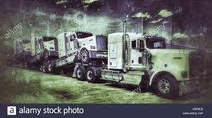 Kenworth Diesels Be Being Delivered To Dealers Stock Photo ...