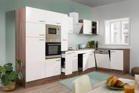 respekta küchenzeile küche winkelküche l form küche eiche york weiß 370x172cm