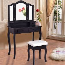 Vanity Makeup Dressing Table Set Bathroom WStool Mirror Jewelry