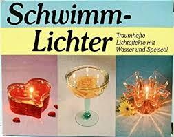 sfamurri neuheitenvertrieb schwimmlichter kerzen mit wasser und speiseöl öl flämmchen im glas 5er set