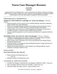 Rn Sample Resume Nurse Case Manager Download Nursing Examples New Graduates