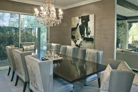 Dining Room Ideas Abstract Wall Art Grey Shades