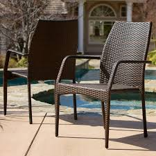 Christopher Knight Home Outdoor Wicker Stacking Chairs | Set Of 2 | Perfect  For Patio | In Multibrown Gdf Studio Dorside Outdoor Wicker Armless Stack Chairs With Alinum Frame Dover Armed Stacking With Set Of 4 Palm Harbor Stackable White All Weather Patio Chair Bay Island Noble House Multibrown Ding 2pack Plowhearth Bistro Two 30 Arm Brown 51 Bfm Seating Ms11cbbbl Gray Rattan Inoutdoor Restaurant Of Red By Crosley Fniture