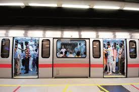 Delhi Metro train runs with doors open operator suspended Livemint