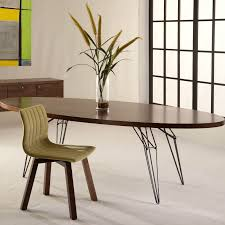 Our Second Oval Table Example Is A Modern Minimalist Design With Narrow Long