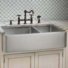 Double Farmhouse Sink Canada by Hazelton 60 40 Offset Double Bowl Stainless Steel Farmhouse Sink