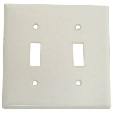 Cooper Wiring Devices Double Toggle Wall Plate