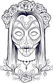 Sugar Skull Coloring Page 9