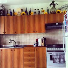 Wine Bottles Sunflowers Effortless Springtime Kitchen Decor