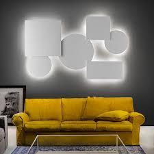 studio italia design puzzle mega rectangular 80x40cm wand deckenle marmor