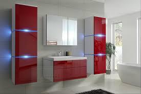 badmöbel set new rot hochglanz weiß keramik waschbecken badezimmer led beleuchtung badezimmermöbel keramikbecken