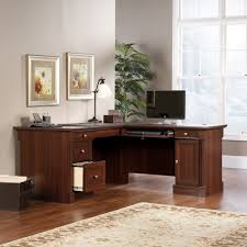 Ameriwood Desk And Hutch In Cherry by Chic Active L Shape Desk Office Furniture Glass L Shaped Desk