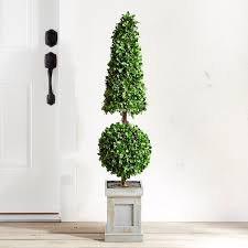 Artificial Plant 4 Double Topiary Artificial Tree In A Pot 13m