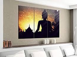 de acrylglasbilder 3 teilig 120x100cm buddha