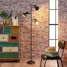 huis design led steh leuchte schlaf wohn zimmer stand gold