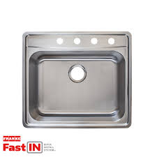 Franke Sink Mounting Clips by Shop Franke Fast In 25 5 In X 22 5 In Single Basin Stainless Steel