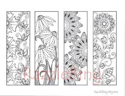 DIY Bookmark Printable Coloring Page Zentangle Inspired Spring