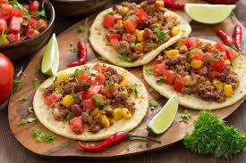 cuisine mexicaine cuisine mexicaine tortillas et chili con carne et salsa de