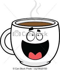 Happy Cartoon Coffee Cup