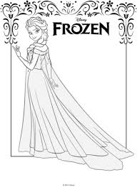 Click To See Printable Version Of Elsa From Frozen Coloring Page