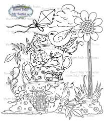 100 Bali Tea House Instant Download Digi Stamp Magical Flower Town The Coffee Img5 By The Artist Sherri Baldy