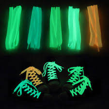 5 pairs led waterproof light up shoe laces luminous glowing