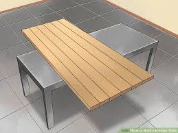 how to build a kitchen table with pictures wikihow
