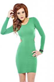 party dress green long sleeve bodycon dress ustrendy