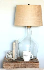 Fillable Glass Lamp Base by Clear Glass Lamp With Burlap Shade Fillable Glass Lamp With Burlap
