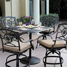 cheap bar height patio set with swivel chairs find bar height