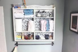 Oak Bathroom Wall Cabinet With Towel Bar by Bathroom Wall Storage Coffee Under The Umbrella