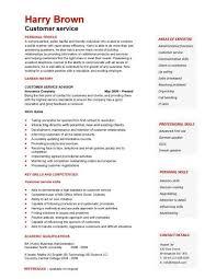 Customer Service Template Cv