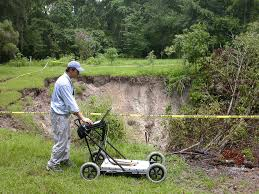 Sinkholes Alachua County Fl by Gpr Data Collection By A Large Sinkhole In Gainesville Florida