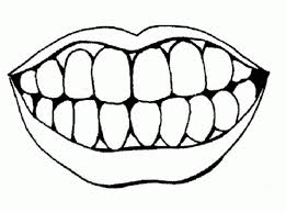 Coloring Pages Of Lips And Teeth
