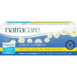 Natracare Tampons - Organic, All Cotton Tampons, Super, 20 Pack
