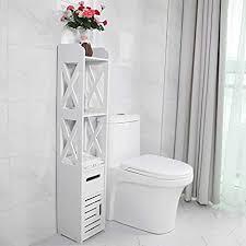 greensen badezimmer hochschrank badezimmer schrank mit 3 offenen einlegeboden eckschrank bad schrank mdf badkommode freistehend badschrank für