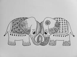 72 Best Zentangle Elephants Images On Pinterest