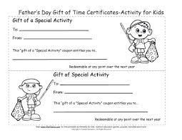 Printable Fathers Day Gift Certificates Coloring Sheets
