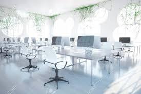 Cool All White Contemporary Home fice By Interior Design fice